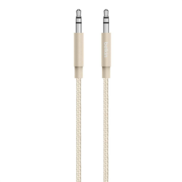 Belkin AV10164BT04-GLD cable de audio 1,2 m 3,5mm Oro