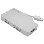 StarTech.com Aluminium A/V reisadapter: 3-in-1 Mini DisplayPort naar VGA, DVI of HDMI 4K