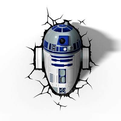 TARGET Star Wars 3D Deco Wall Light - R2D2