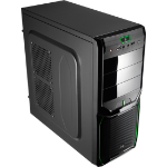 Aerocool V3X Evil Green Edition Midi-Tower Black,Green computer case