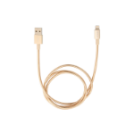 Verbatim Lightning Stainless Steel Sync & Charge Cable 100cm Gold