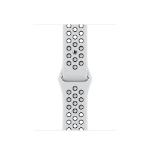 Apple ML843ZM/A smartwatch accessory Band Schwarz, Platin Fluor-Elastomer