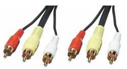 Lindy 35546 composite video cable 20 m 3 x RCA Black