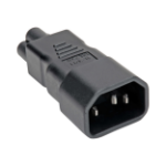 Tripp Lite P014-000 power plug adapter C14 C6 Black