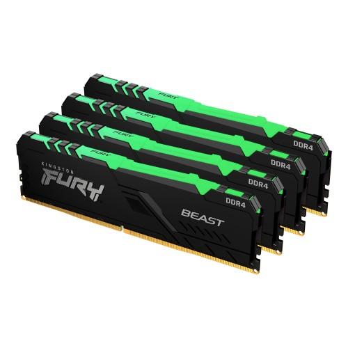 Kingston Technology FURY Beast RGB memory module 64 GB 4 x 16 GB DDR4 3200 MHz
