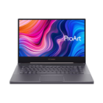 "ASUS ProArt StudioBook W500G5T-HC015R notebook 39.6 cm (15.6"") 3840 x 2160 pixels 9th gen Intel® Core™ i7 32 GB DDR4-SDRAM 512 GB SSD NVIDIA Quadro RTX 5000 Max-Q Wi-Fi 6 (802.11ax) Windows 10 Pro Grey"