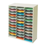 Fellowes 25061 36shelves Grey,White literature rack