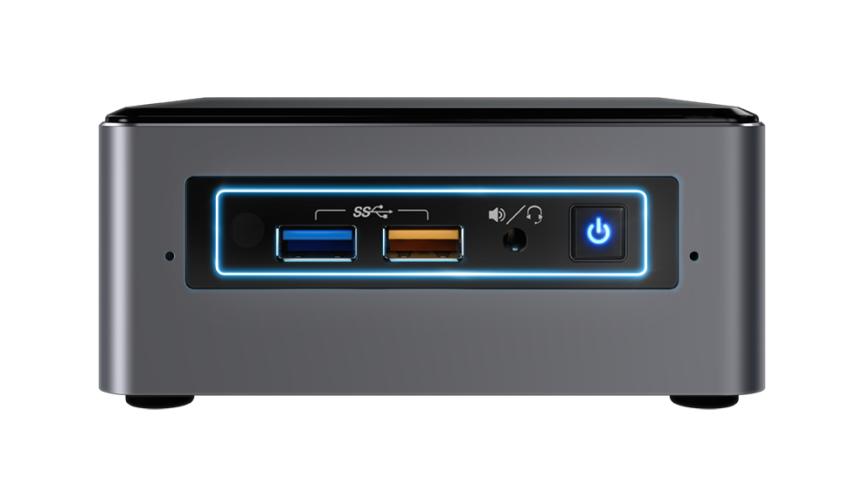 Intel NUC NUC7I5BNHXF 2.2GHz i5-7260U Nettop Black, Grey Mini PC