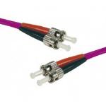 Hypertec 392561-HY fibre optic cable 1 m ST OM4 Pink