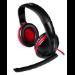 Mars Gaming MH0 auricular con micrófono Diadema Binaural Negro, Rojo