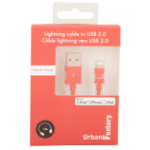 Urban Factory Cable USB to Lightning MFI certified - Red 1m (retail packaging) CID34UF