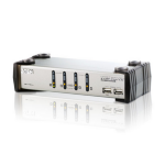 ATEN 4 Port USB KVMP Switch with audio and USB 1.1 Hub - Cables Included