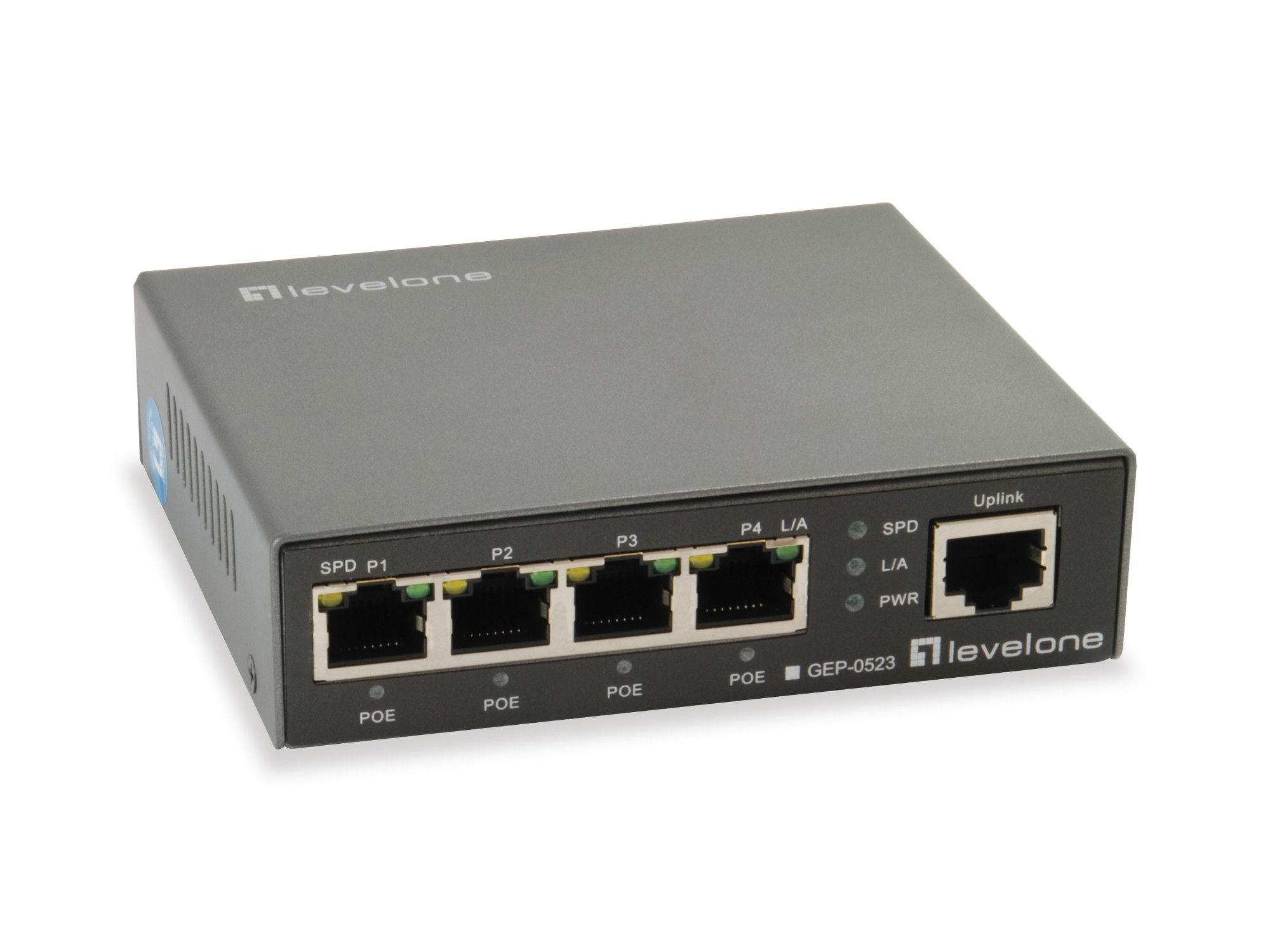 LevelOne 5-Port Gigabit PoE Switch, 802.3at/af PoE, 4 PoE Outputs, 60W