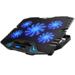 """Inland 03027 notebook cooling pad 15.6"""" 2500 RPM Black"""