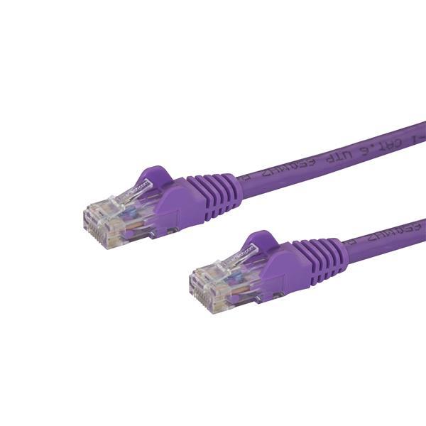 StarTech.com Cable de Red de 5m Púrpura Cat6 UTP Ethernet Gigabit RJ45 sin Enganches