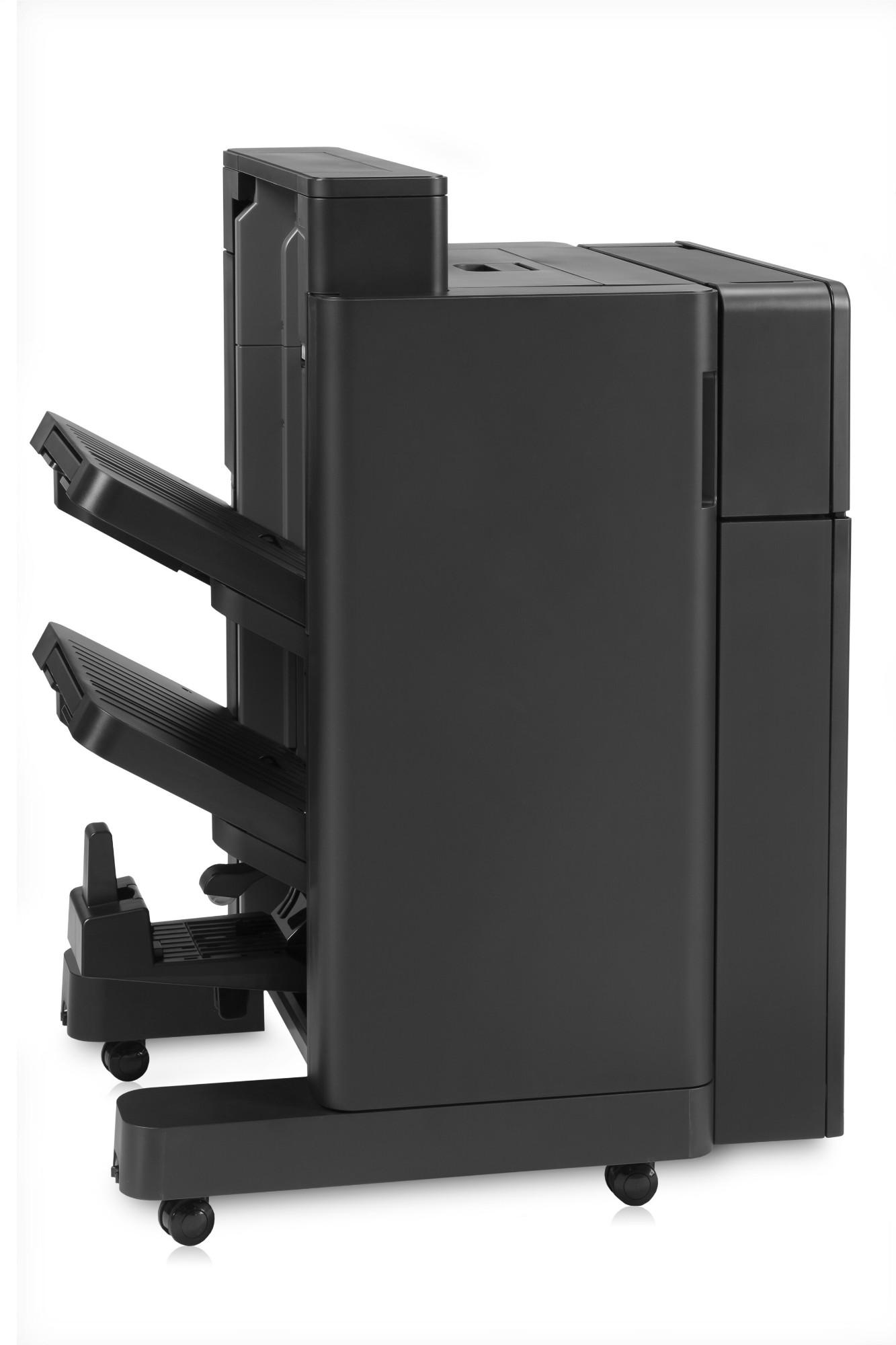 HP Color LaserJet Booklet Maker/Finisher with 2/4 hole punch output stacker