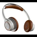 Plantronics BackBeat SENSE Head-band Binaural Wireless White,Tan mobile headset