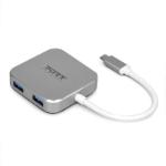 Port Designs 900123 interface hub USB 3.2 Gen 1 (3.1 Gen 1) Type-C 5000 Mbit/s Grey