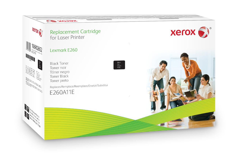 Xerox Cartucho de tóner negro. Equivalente a Lexmark E260A21E, E260A11E. Compatible con Lexmark E260, E360, E460, E462