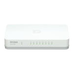 D-Link GO-SW-8G/E network switch Unmanaged Gigabit Ethernet (10/100/1000) White
