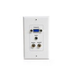 StarTech.com VGAPLATERCA White outlet box