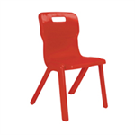 Titan 1 Piece Chair 310mm Red (Pack of 30) KF838728