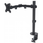 "Manhattan 461542 32"" Clamp Black flat panel desk mount"