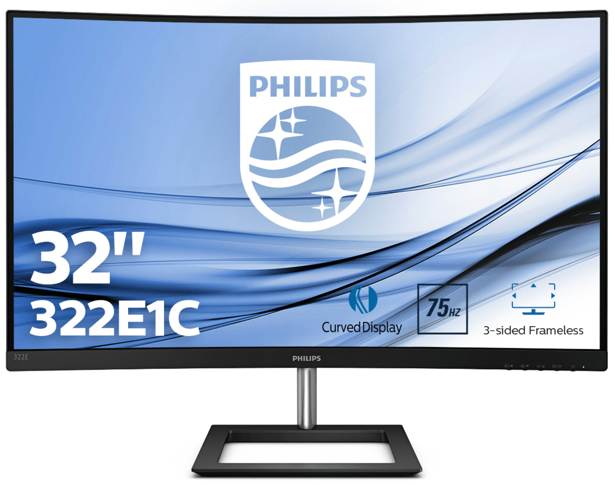 "Philips E Line 322E1C/00 LED display 80 cm (31.5"") 1920 x 1080 Pixeles Full HD LCD Negro"