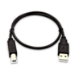 V7 USB-A (macho) a USB-B (macho) de 0,5 m - Color negro