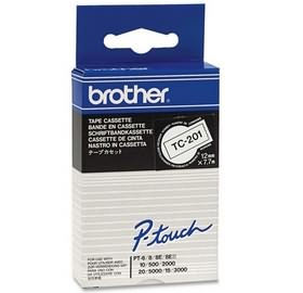 Brother TC-201 P-Touch Ribbon, 12mm x 7,7m