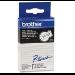 Brother TC-201 cinta para impresora de etiquetas Negro sobre blanco