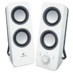 New Logitech Z200 Multimedia Speakers Stereo Sound Snow White 3.5mm AC