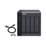 "QNAP TR-004 8TB 4x2TB Seagate IronWolf 4 Bay NAS Desktop 2.5/3.5"" HDD/SSD enclosure Black"