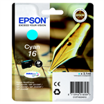 Epson C13T16224012 (16) Ink cartridge cyan, 165 pages, 3ml