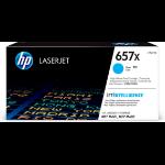 HP CF471XC (657X) Toner cyan, 23K pages