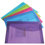 Rapesco Foolscap Pastel Popper Wallet Assorted DL Polypropylene (PP)