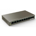 Tenda TEF1110P-8-102W network switch Fast Ethernet (10/100) Power over Ethernet (PoE) Grey