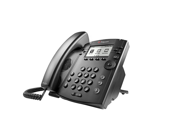 Polycom VVX 301 IP phone Black Wired handset LCD 6 lines