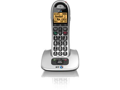 British Telecom BT 4000 Single DECT telephone Black,Silver