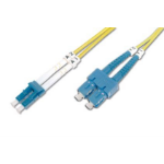 ASSMANN Electronic OS1 SC/LC 3m 3m SC/APC LC/APC Geel Glasvezel kabel