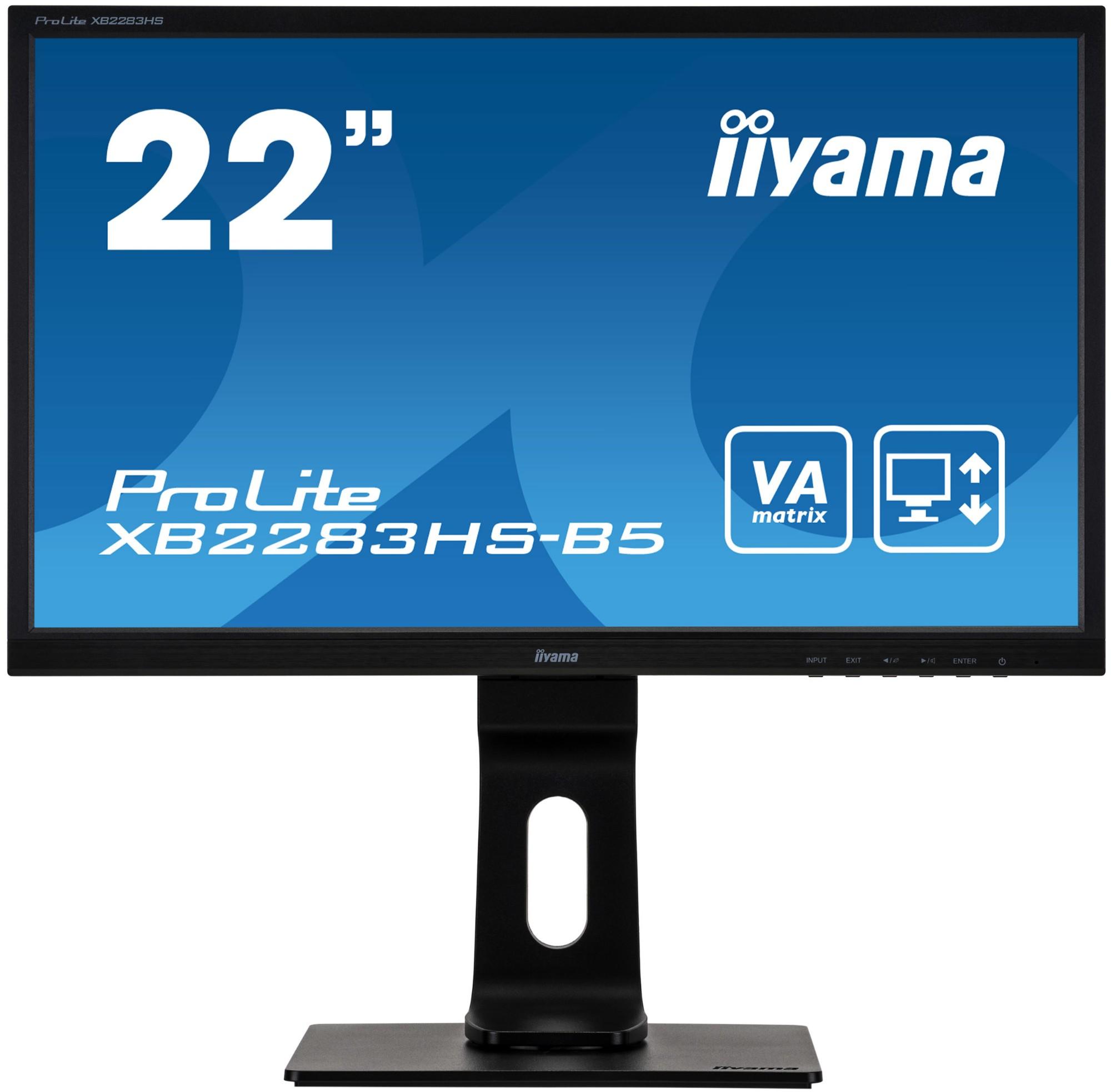 iiyama ProLite XB2283HS-B5 LED display 54.6 cm (21.5