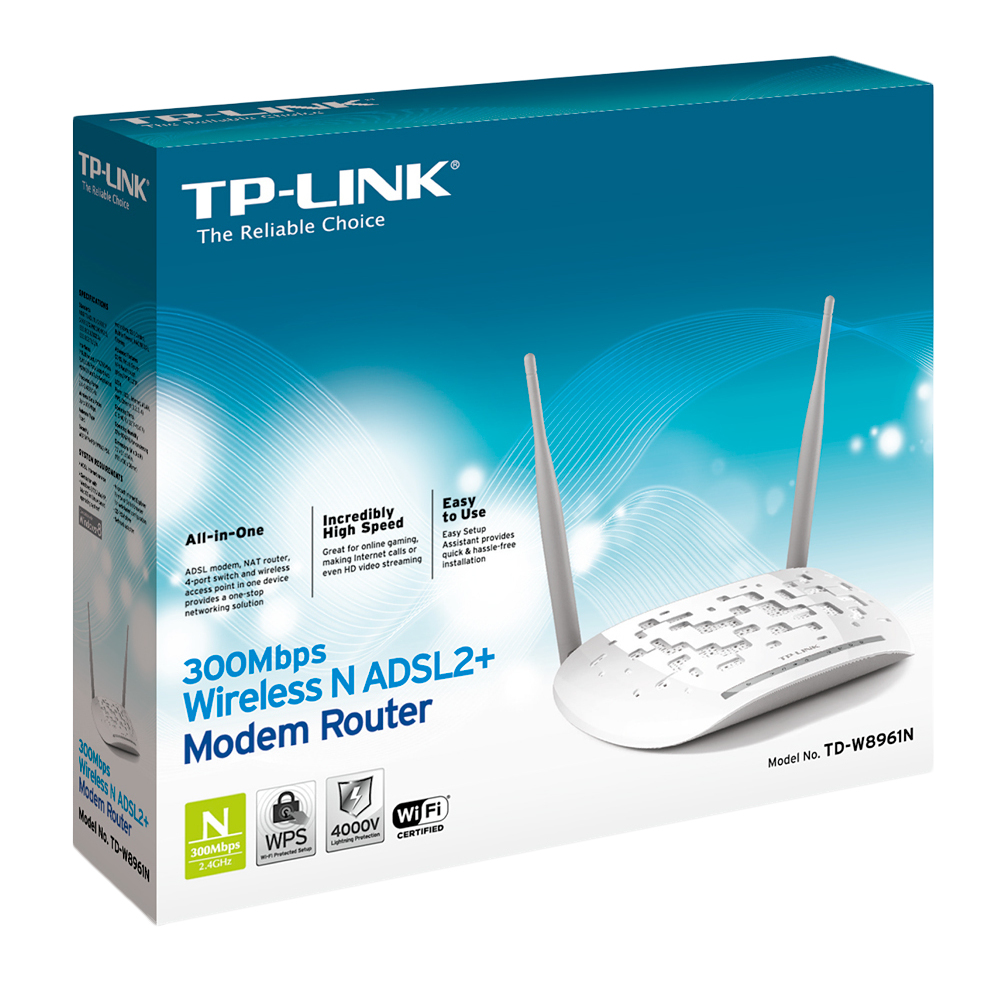 TP-LINK TD-W8961N wireless router Fast Ethernet White