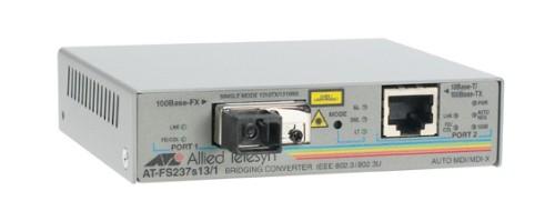 Allied Telesis 2-port FE Switch media converter 10/100TX to 100FX (SC), 15km 100Mbit/s network media converter
