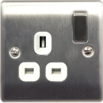Nexus NBS21W Stainless steel socket-outlet