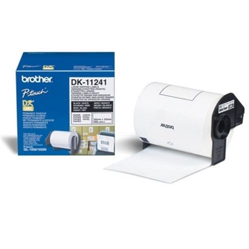 Brother DK-11241 P-Touch Etikettes, 102mm x 152 mm, 200