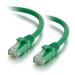 C2G Cable de conexión de red LSZH UTP, Cat6A, de 0,5 m - Verde