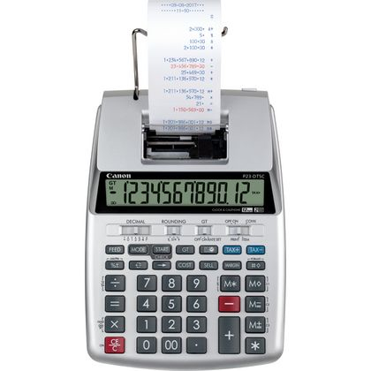 Canon P23-DTSC calculator Desktop Printing Silver