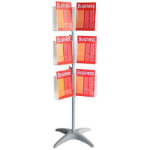 ESSELTE BROCHURE HOLDER CAROUSEL FLOOR STAND 3 TIER A4 X 18