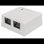 Intellinet Mount Box, Cat6, UTP, 2 Port, Locking Function, White