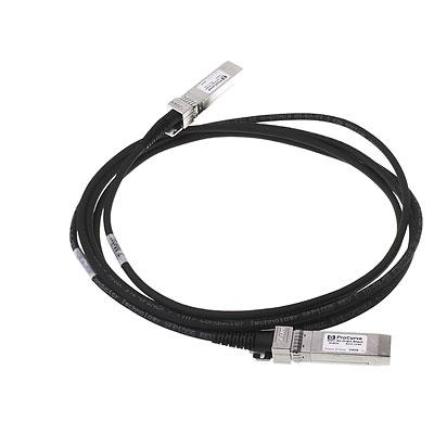 Hewlett Packard Enterprise X242 10G SFP+ 3m coaxial cable Direct Attach Copper SFP+ Black